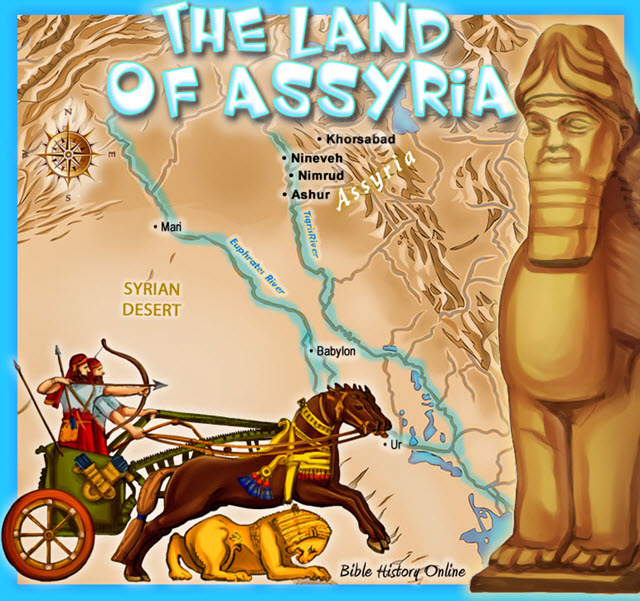 Map of the Land of Assyria (Kids Bible Maps)